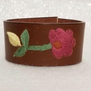 Bohemia Embroidery Flower Cuff Bracelet